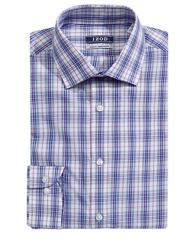 Izod Check Sport Shirt-PINK-17-32/33