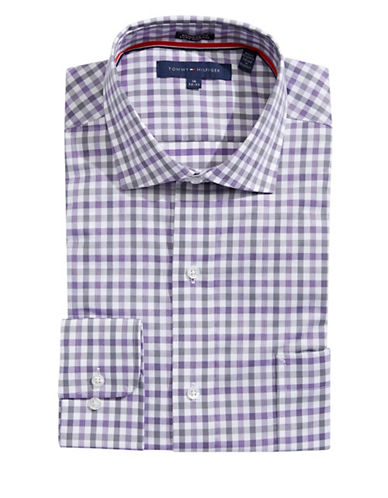 Tommy hilfiger gingham regular fit dress shirt modesens for Tommy hilfiger gingham dress shirt