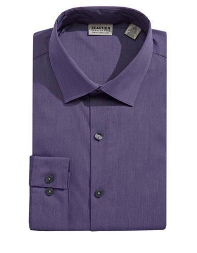 Kenneth Cole Reaction Techni-Cole Slim Flex Dress Shirt-DUSTY VIOLET-18.5-34/35