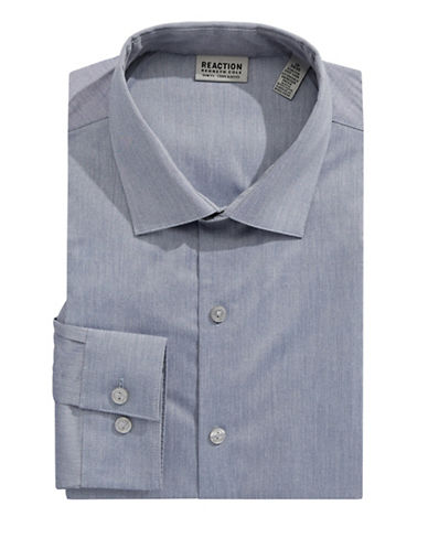 Kenneth Cole Reaction Slim Fit Flex Dress Shirt-BLUE-18-34/35