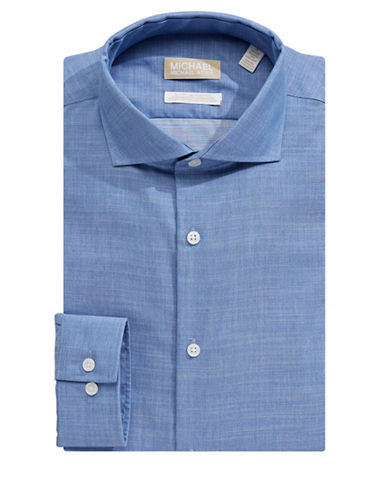 Michael Michael Kors Classic Dress Shirt-BLUE-17.5-34/35