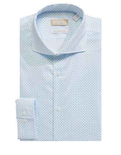 Michael Michael Kors Speckled Dress Shirt-AQUA-16.5-32/33