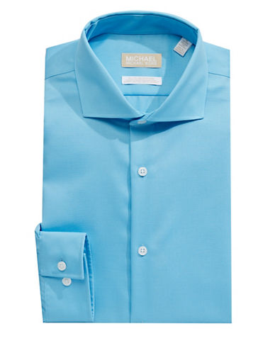 Michael Michael Kors Crisp Dress Shirt-AQUA-16.5-34/35