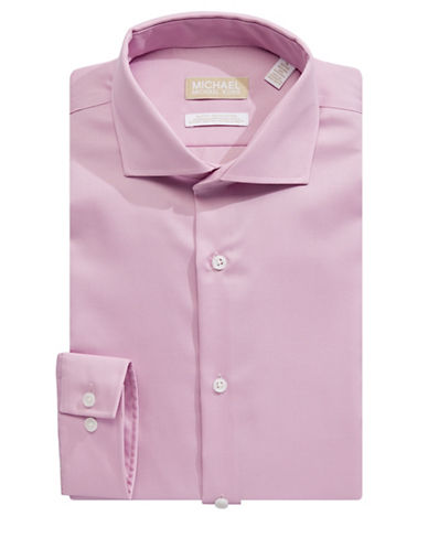 Michael Michael Kors Slim Fit Crisp Dress Shirt-PINK-17.5-32/33