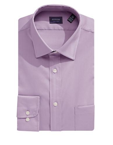 Arrow Classic-Fit Textured Dress Shirt-PURPLE DUSK-17-32/33