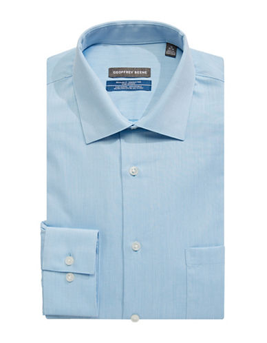 Geoffrey Beene Broadcloth Sport Shirt-SOFT BLUE-17-32/33