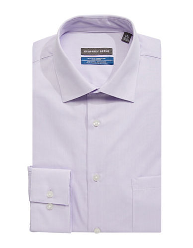 Geoffrey Beene Broadcloth Sport Shirt-PURPLE-16-34/35