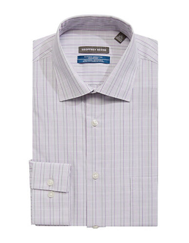 Geoffrey Beene Checked Broadcloth Sport Shirt-PINK-17.5-34/35