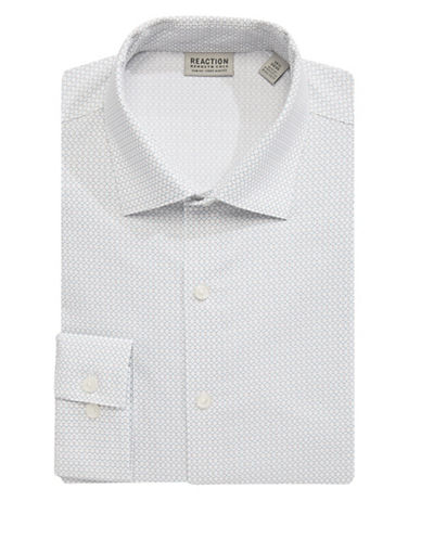 Kenneth Cole Reaction Techni-Cole Printed Dress Shirt-GREY-14.5-32/33