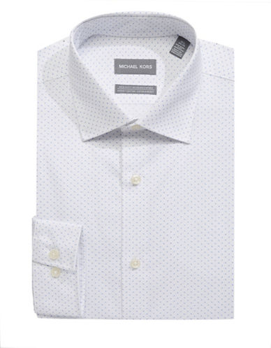 Michael Michael Kors Micro-Dot Print Dress Shirt-BLUE-17-32/33