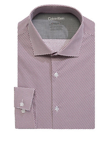 Calvin Klein Extreme Slim Stretch Dress Shirt-RED-18-34/35