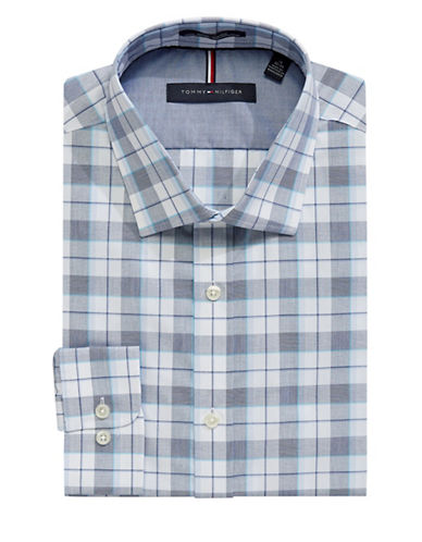 Tommy Hilfiger Slim Fit Dress Shirt-BLUE-14.5-32/33