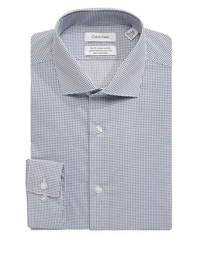 Calvin Klein Steel Slim-Fit Cotton Dress Shirt-BLUE-17-32/33