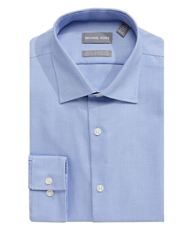 Michael Michael Kors Slim-Fit Cotton Dress Shirt-BLUE-16.5-32/33