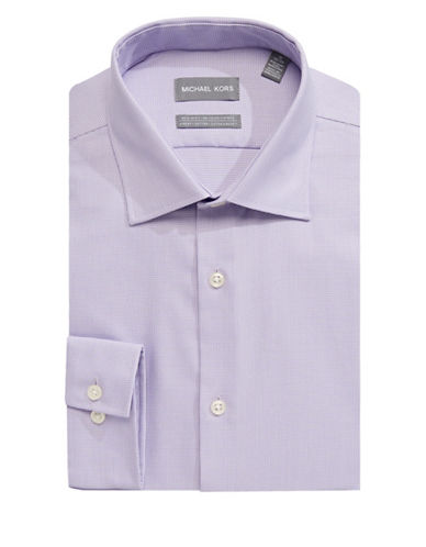 Michael Michael Kors Slim-Fit Cotton Dress Shirt-PURPLE-15-32/33
