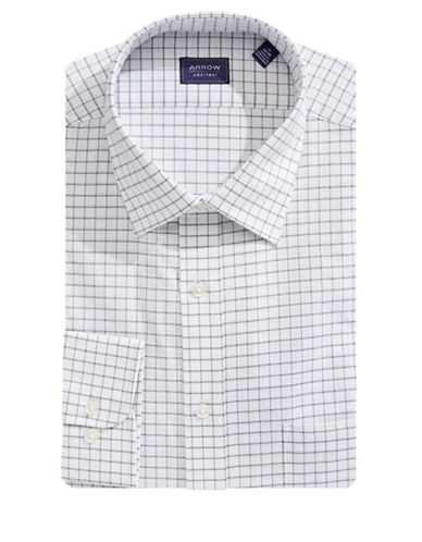 Arrow Crisscross Dress Shirt-GREY-15.5-32/33
