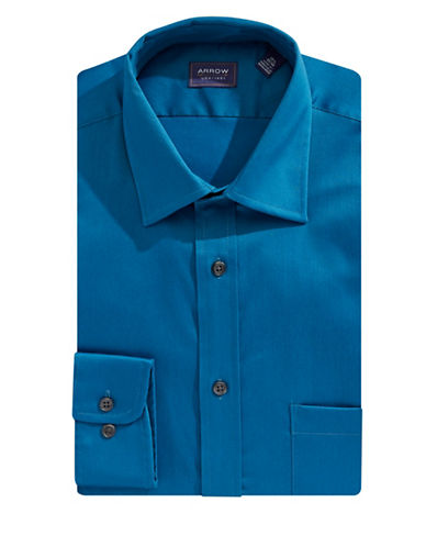 Arrow Classic Dress Shirt-BLUE-17.5-32/33