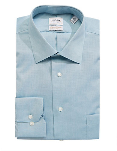 Arrow Cotton Dress Shirt-GREEN-16.5-34/35