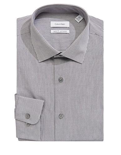 Calvin Klein Contrast Stripe Dress Shirt-GREY-16.5-34/35