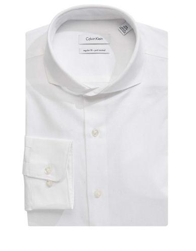 Calvin Klein Classic Cotton Dress Shirt-WHITE-15-32/33