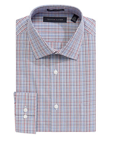 Tommy Hilfiger Oxford Cotton Print Dress Shirt-RED-15.5-34/35