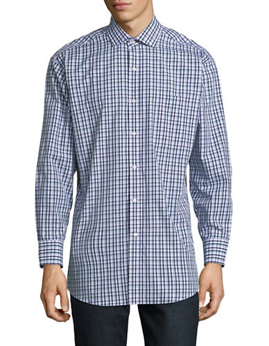 Tommy Hilfiger Plaid Sportshirt-GREEN-17.5-34/35