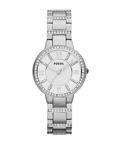 Fossil Virginia Stainless Steel Watch-SILVER-One Size