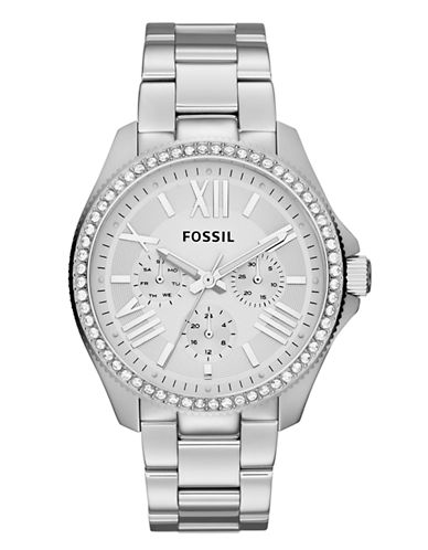 Fossil Cecile Multifunction Stainless Steel Watch-SILVER-One Size