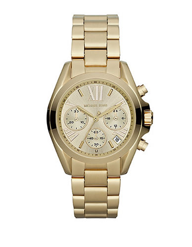 Michael Kors Mini Size Bradshaw Chronograph Watch-GOLD-One Size
