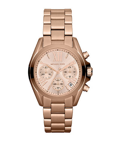 Michael Kors Mini Size Bradshaw Chronograph Watch-ROSE GOLD-One Size