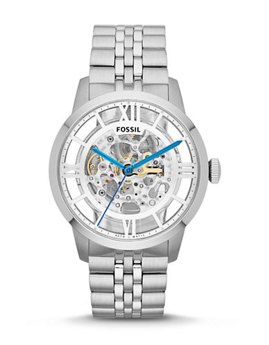 Fossil Mens Townsman Automatic Watch ME3044-SILVER-One Size