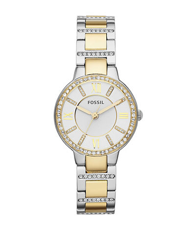 Fossil Virginia Three-Hand Stainless Steel Watch Two Tone-TWO TONE-One Size