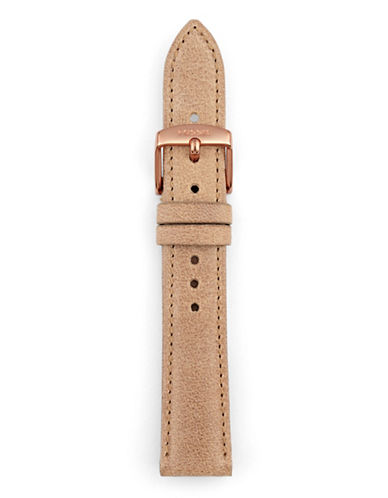 Fossil Light Brown Leather Watch Strap-BROWN-One Size