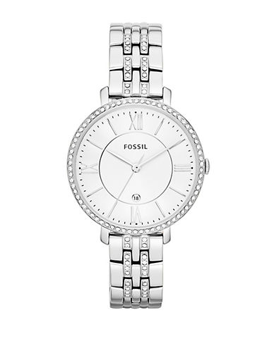 Fossil Jacqueline Three Hand Date Stainless Steel Watch-SILVER-One Size