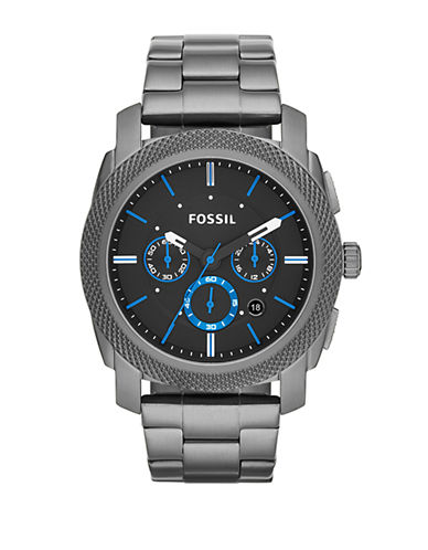 Fossil Machine Chronograph Stainless Steel Watch   Smoke-GREY-One Size