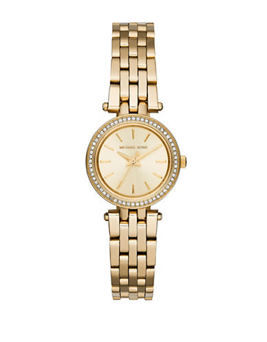 Michael Kors Gold Tone Petite Darci Watch  MK3295-GOLD-One Size