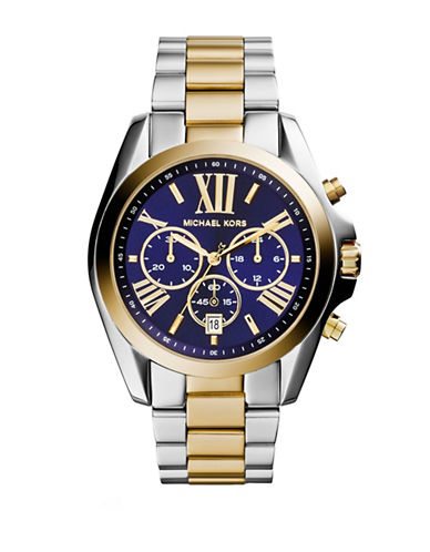 Michael Kors Two-Tone Bradshaw Watch with Navy Dial MK5976-TWO TONE-One Size