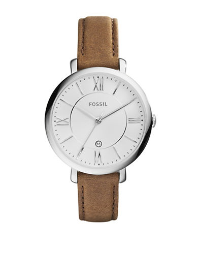 Fossil Womens Analog Jacqueline Watch ES3708-BROWN-One Size