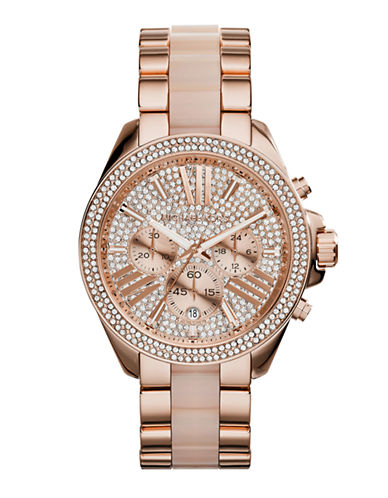 Michael Kors Chronograph Wren Rose-Goldtone Bracelet Watch-ROSE GOLD-One Size