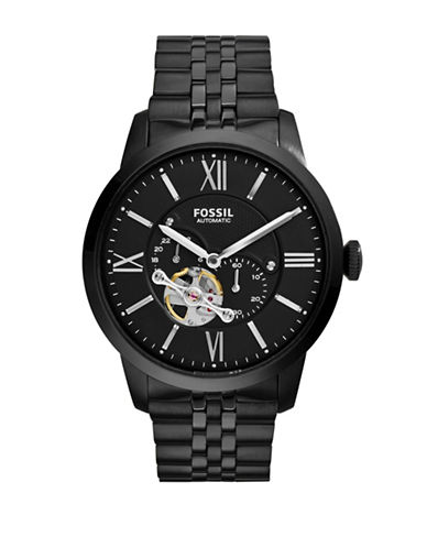 Fossil Automatic Multi Townsman Stainless Steel Watch-BLACK-One Size