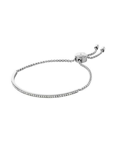 Michael Kors Semi-Precious Stone Strand Bracelet-SILVER-One Size