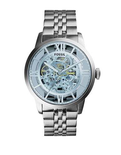 Fossil Mens Analog Townsman Watch ME3073-SILVER-One Size