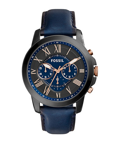 Fossil Mens Chronograph Grant Watch FS5061-NAVY-One Size