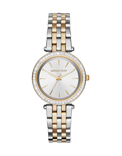 Michael Kors Darci Two-Toned Stainless Steel Analog Watch-TWO TONE-One Size