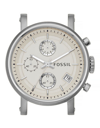Fossil Boyfriend Chronograph Stainless Steel Watch Case-SILVER-One Size