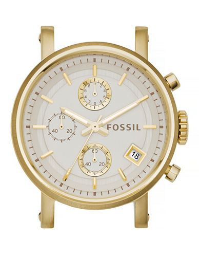 Fossil Boyfriend Chronograph Goldtone Stainless Steel Watch Case-GOLD-One Size