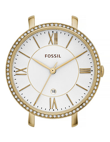 Fossil Goldtone Pave Bar Watch Case-GOLD-One Size