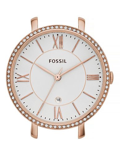 Fossil Rose Goldtone Pave Bar Watch Case-ROSE GOLD-One Size