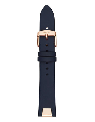 Fossil Navy Leather Watch Strap-BLUE-One Size