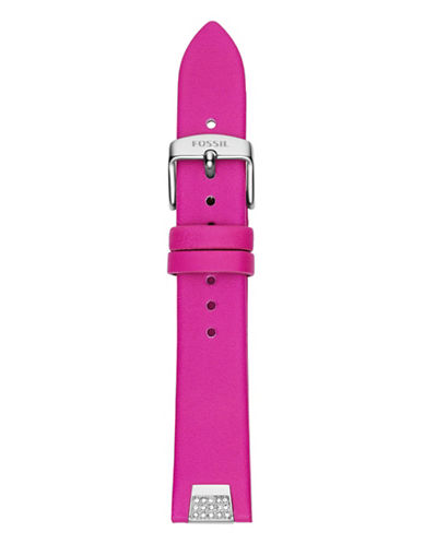 Fossil Pink Leather Watch Strap-PINK-One Size